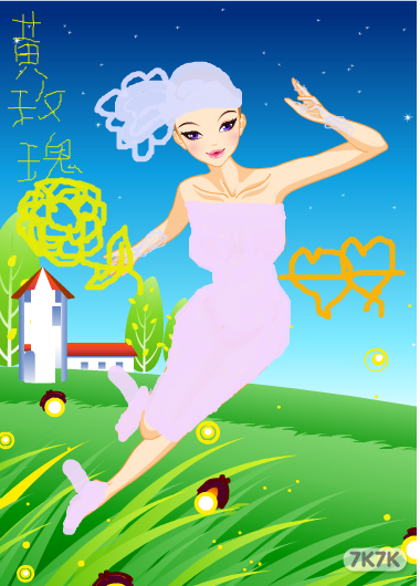 涂鸦馆-贝儿公主-手绘作品
