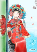 半仿·有修改· 画的是盗墓笔记里的花儿爷 申精(*^__^*) 参赛