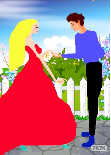 简单结婚画画图片