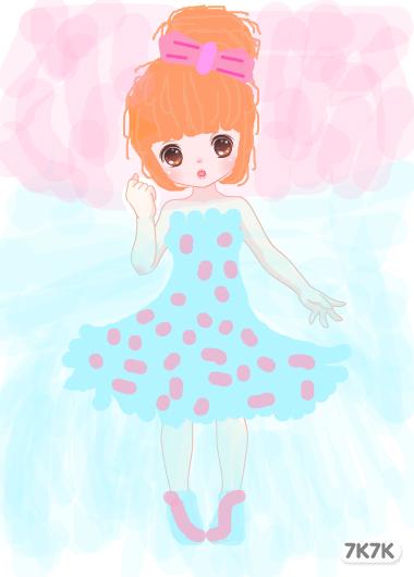 可爱小公主女孩简笔画