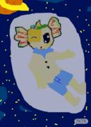 夜空中的希望。。。。。。。。。。送给他。。。。。。。。鼠绘的,尼玛累死了