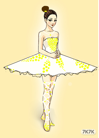 芭蕾舞者手绘图画