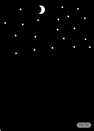 手绘星空画有月亮