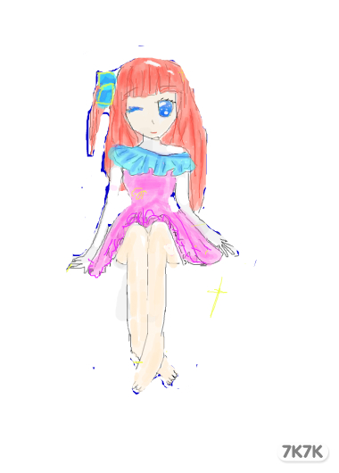 涂鸦馆-可爱甜心公主-手绘作品