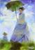 临摹莫奈的【持阳伞的女人】。据说可以练色感就去画了。。。