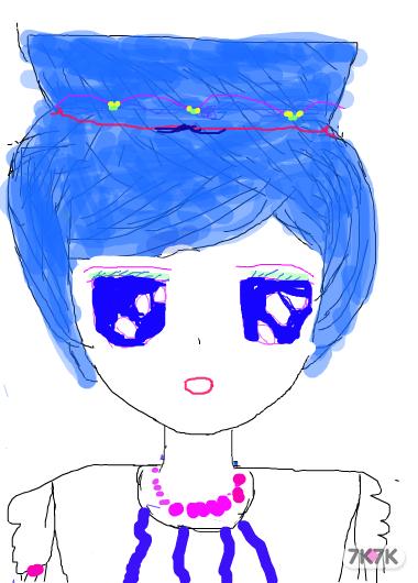 涂鸦馆-蓝色棒棒糖-手绘作品