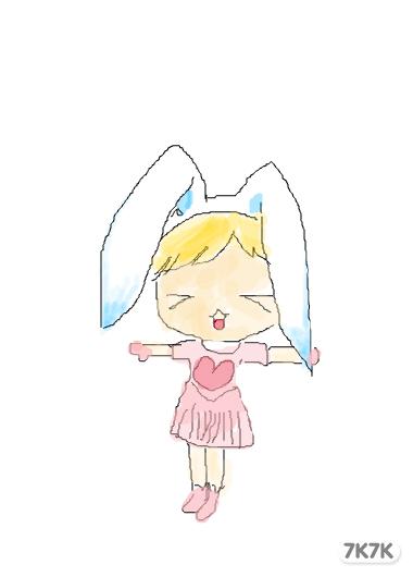 涂鸦馆-幸福的小猪-手绘作品