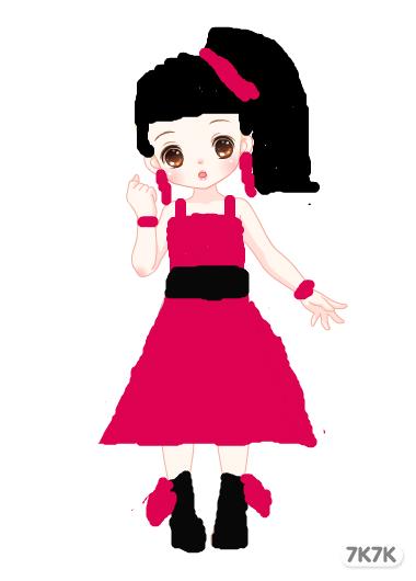 盈盈-穿礼服的小姑娘