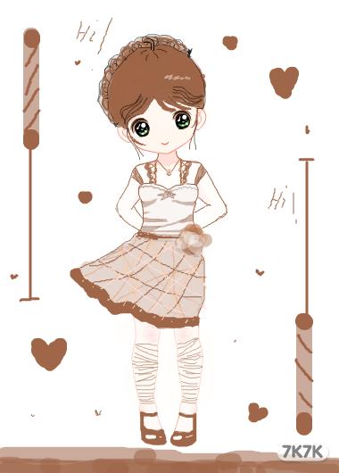 一个可爱小女孩