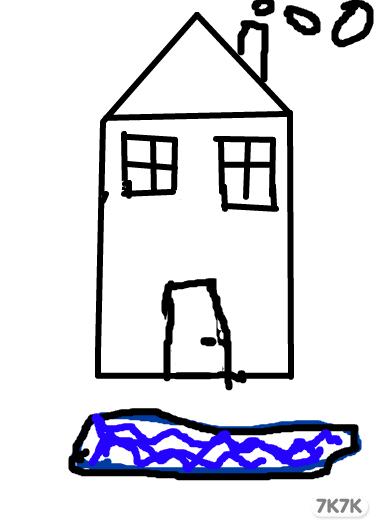 彩色简笔画小房子-彩色简笔画风景图片,幼儿简笔画图片带颜色,彩色简