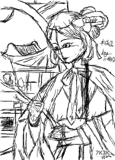 涂鸦馆-小鸽子-手绘作品