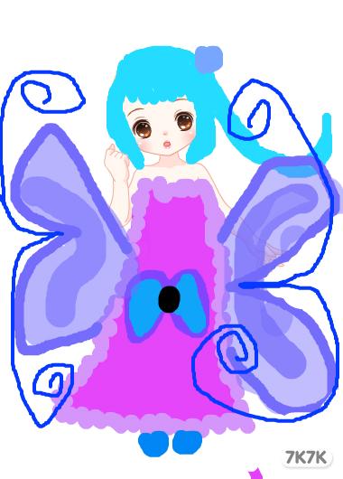 涂鸦馆-紫玫瑰-手绘作品