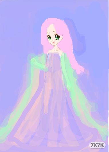 高清紫衣手绘图