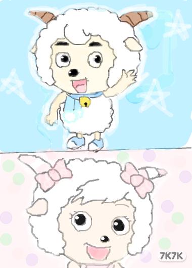 小稀-喜羊羊,美羊羊
