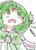 大概是这个样子,服装颜色可以随便换,但主色调必须为绿色,因为史莱克的校服是绿色的,背上的带子末梢事实上有个装饰,但我没有画出来。眼睛和头发必须是绿色,什么绿我不管