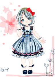 裙子本来想画山海经的..但是太麻烦了所以随便改了改。