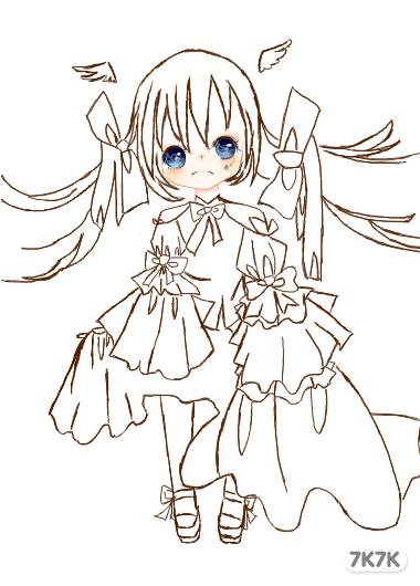 小兔吃萝卜简笔画步骤图