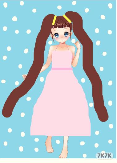 漫画女生冬季服装手绘