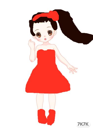 涂鸦馆-漂亮小公主-手绘作品