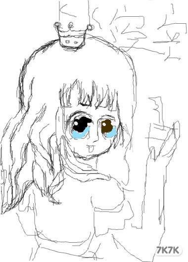 小公主简笔画图片大全大图 可爱