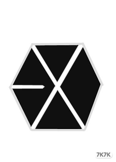 exo成员标志画画教程